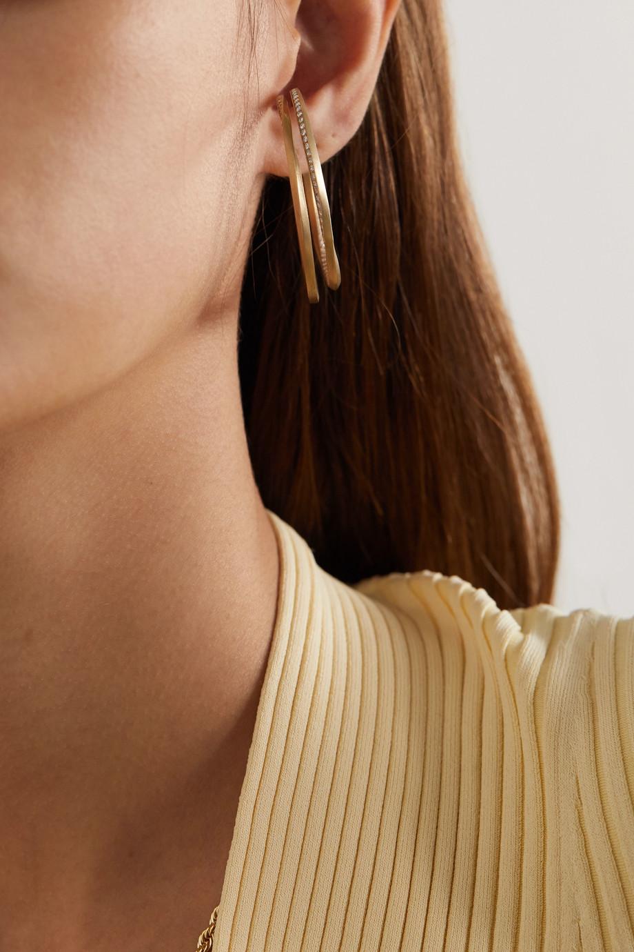 Completedworks Ear Cuff aus Gold-Vermeil mit Topasen