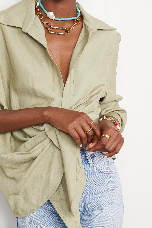 éliou Sai gold-plated necklace
