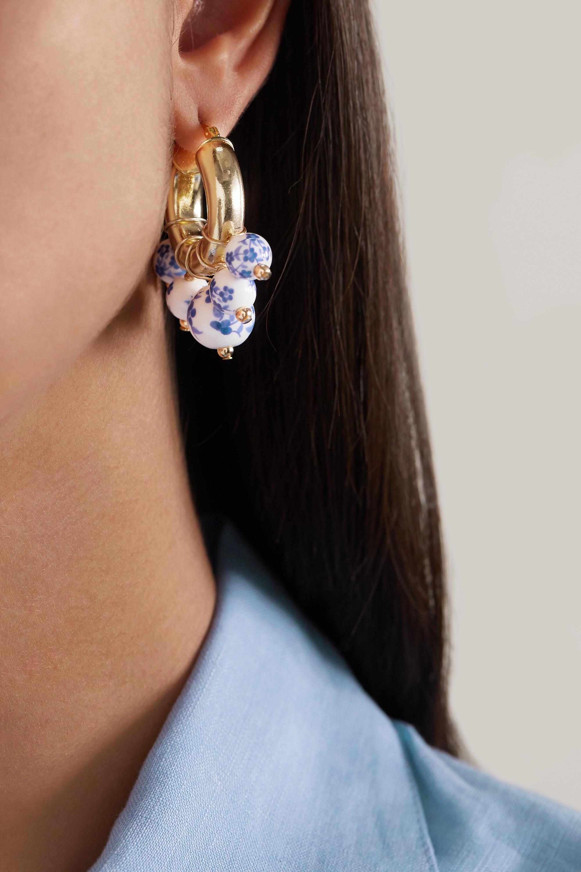 éliou Sandro gold-plated bead earrings