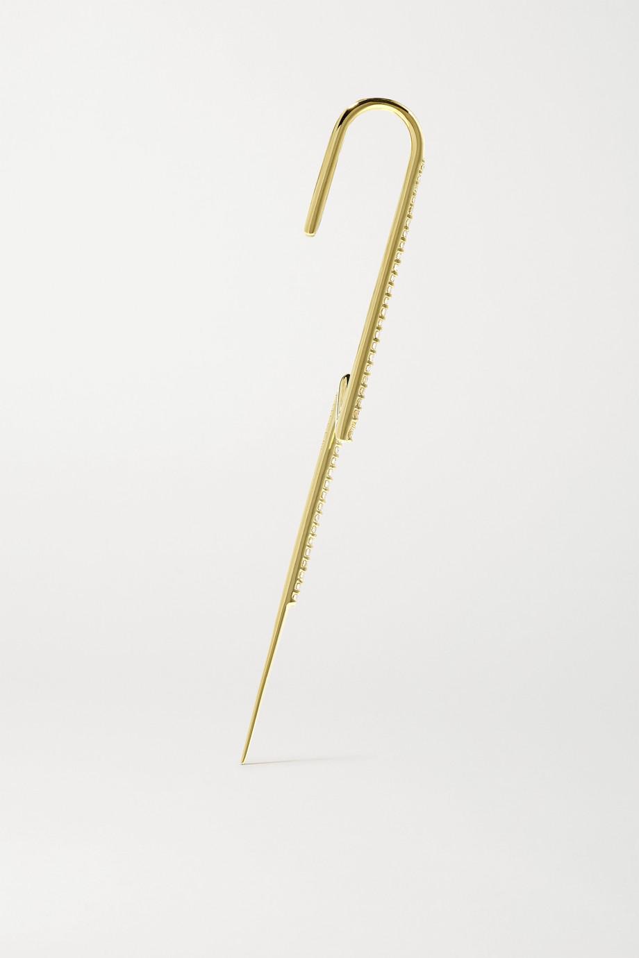 KATKIM Flash gold and diamond ear pin