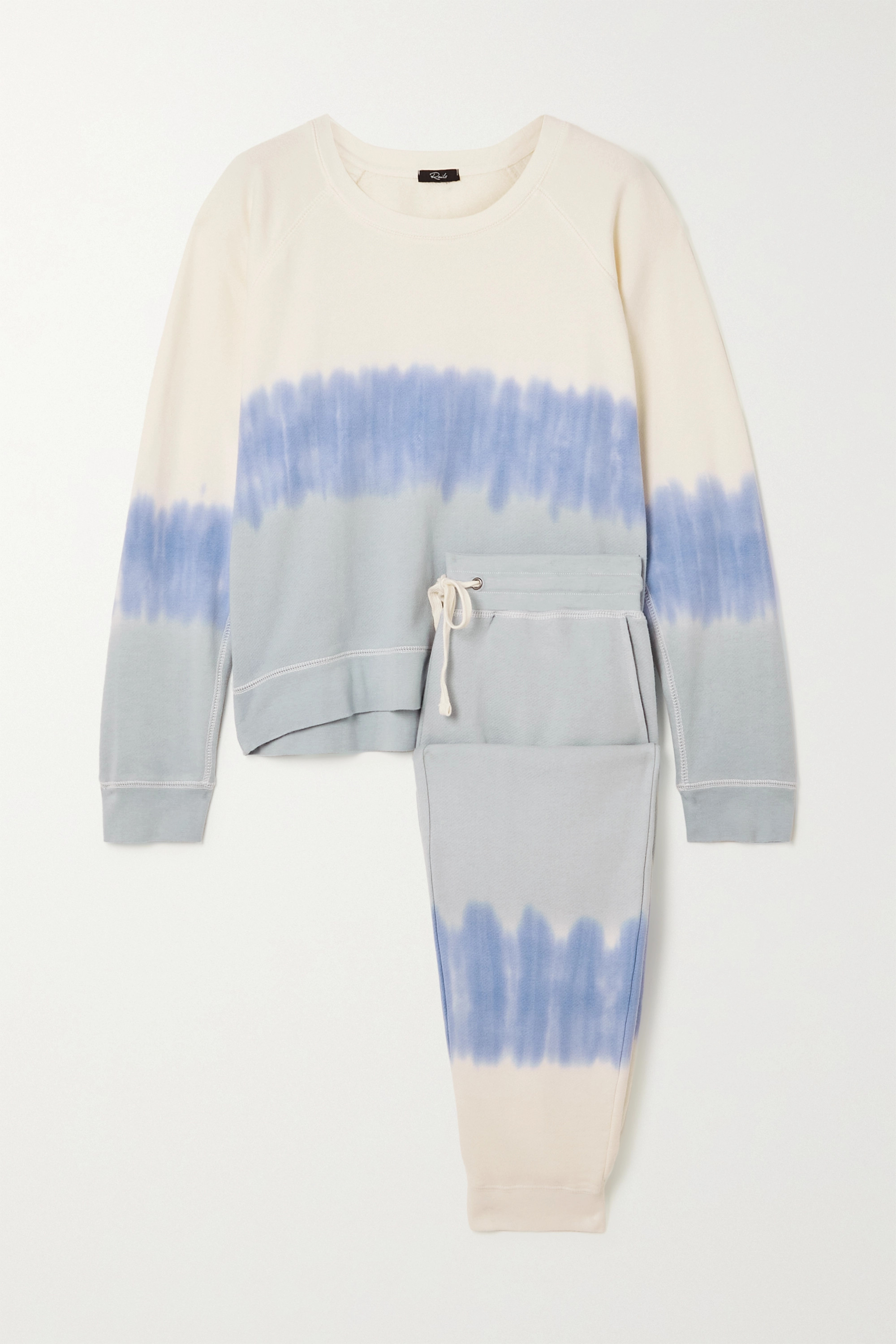 Rails - Theo Oakland tie-dyed cotton and modal-blend jersey sweatshirt and track pants set