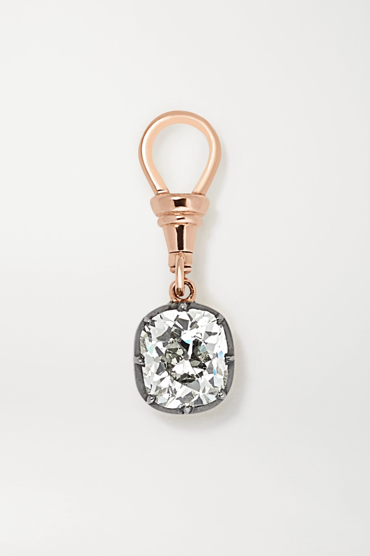 Jessica McCormack Ball 'n' Chain 18-karat rose and blackened white gold diamond pendant