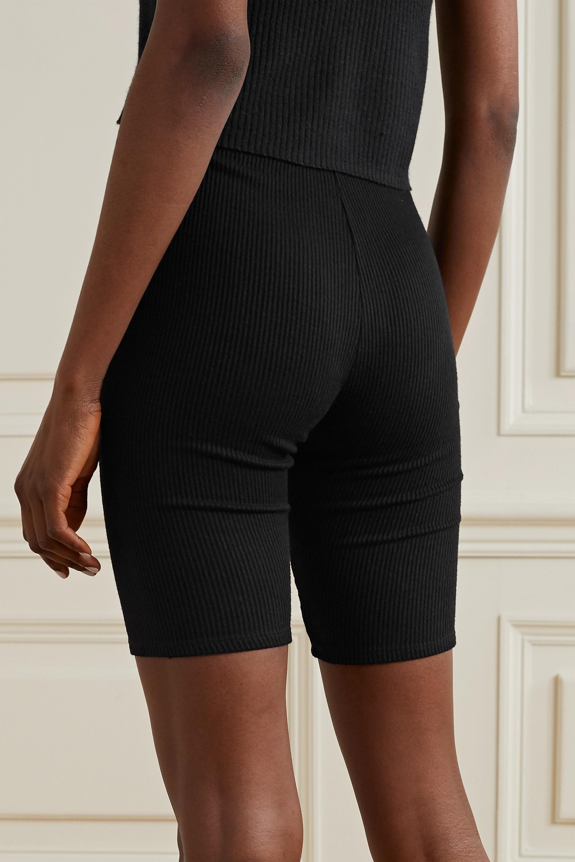 Sablyn Rowen ribbed cotton-jersey shorts