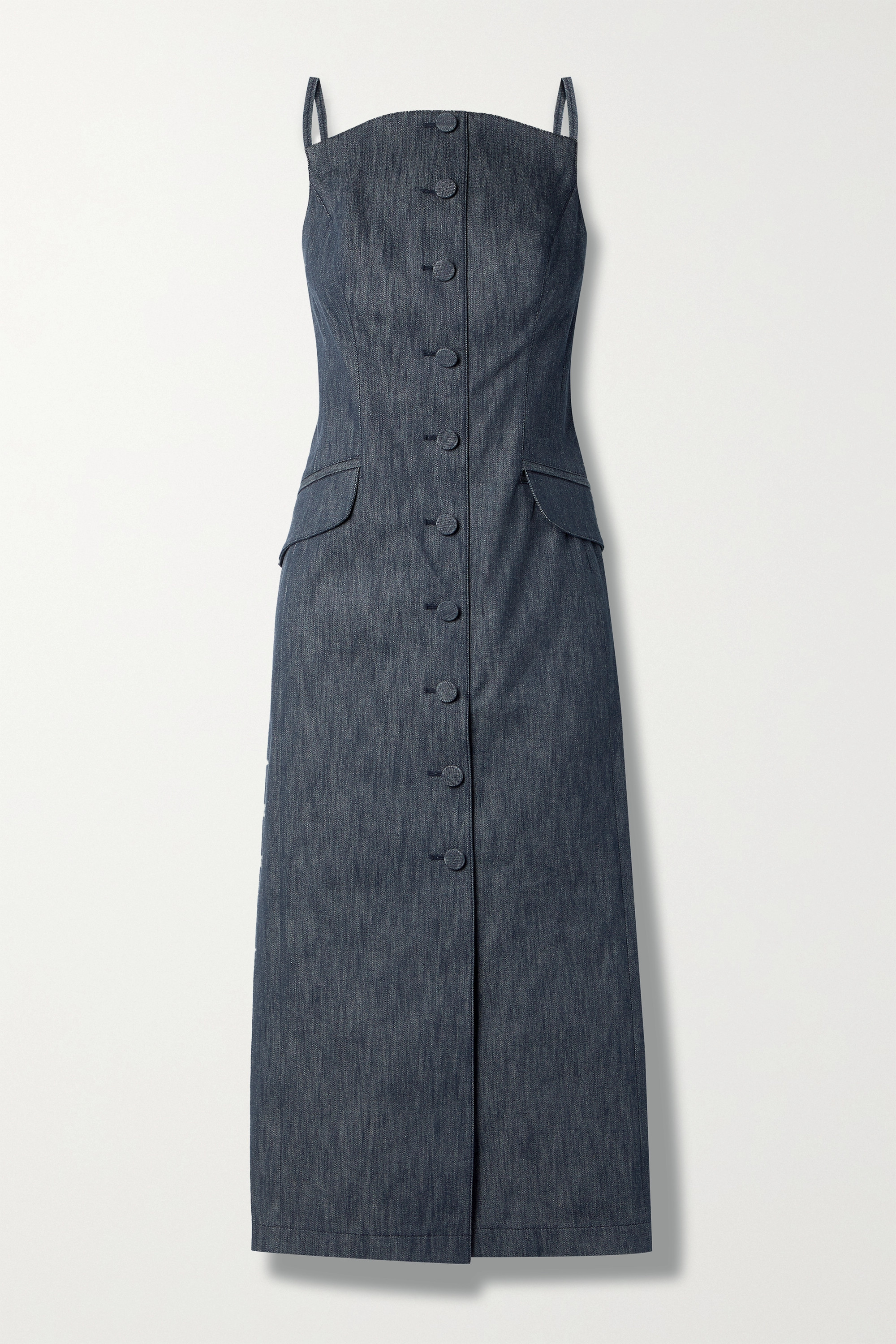 Carolina Herrera Denim midi dress