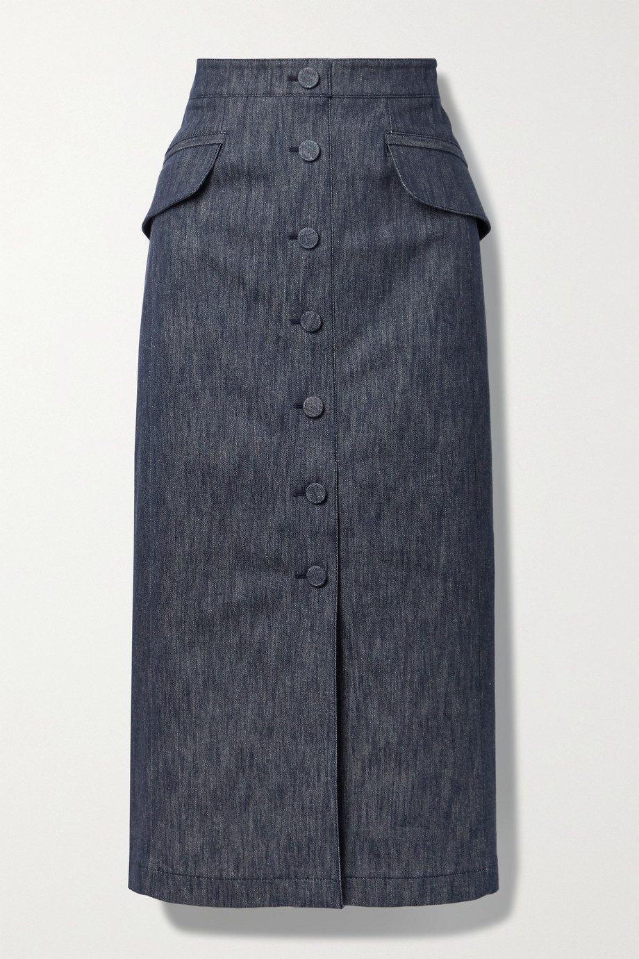 Carolina Herrera Stretch-denim midi skirt
