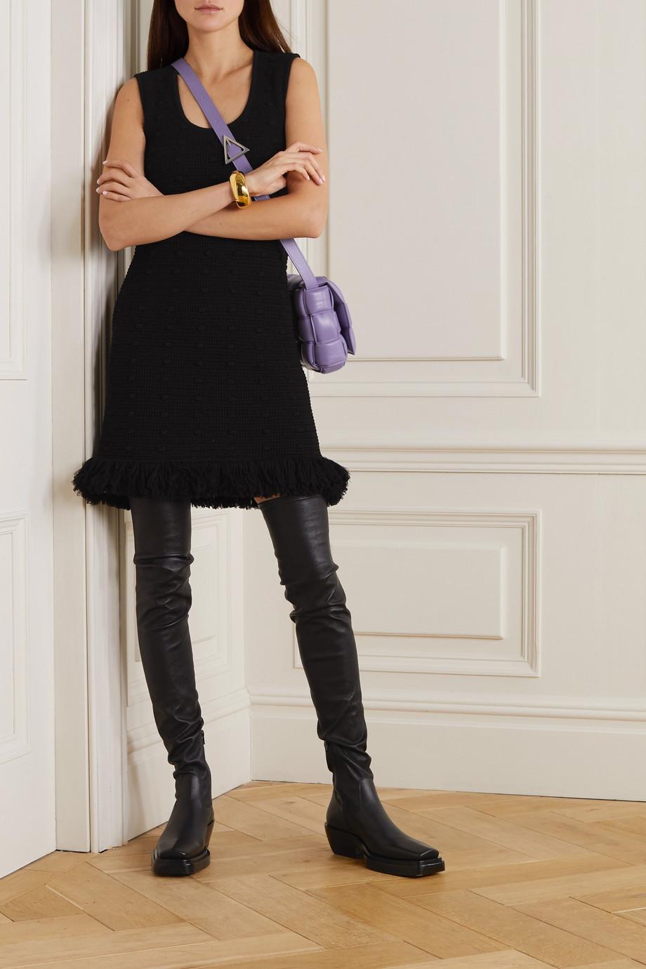 Bottega Veneta Minikleid aus Baumwolle mit Fransen