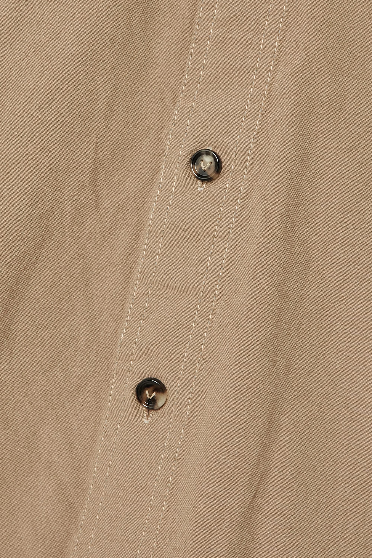 Bottega Veneta Midirock aus Baumwolle mit Streifen und Gürtel