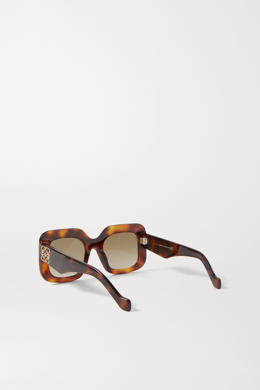 Loewe Oversized square-frame tortoiseshell acetate sunglasses