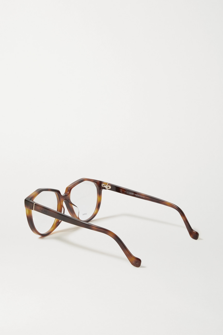 Loewe Round-frame tortoiseshell acetate optical glasses