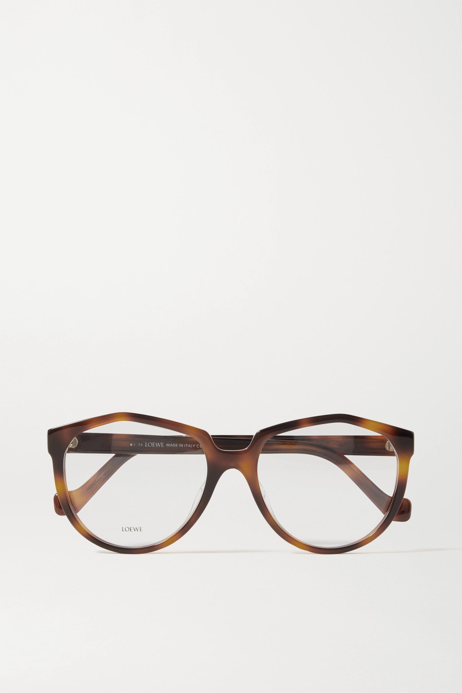 Loewe Round-frame tortoiseshell acetate optical glasses