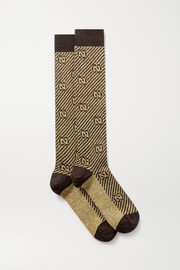 Gucci Metallic jacquard-knit socks