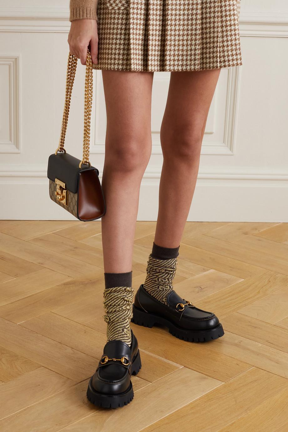 Gucci Metallic jacquard-knit socks