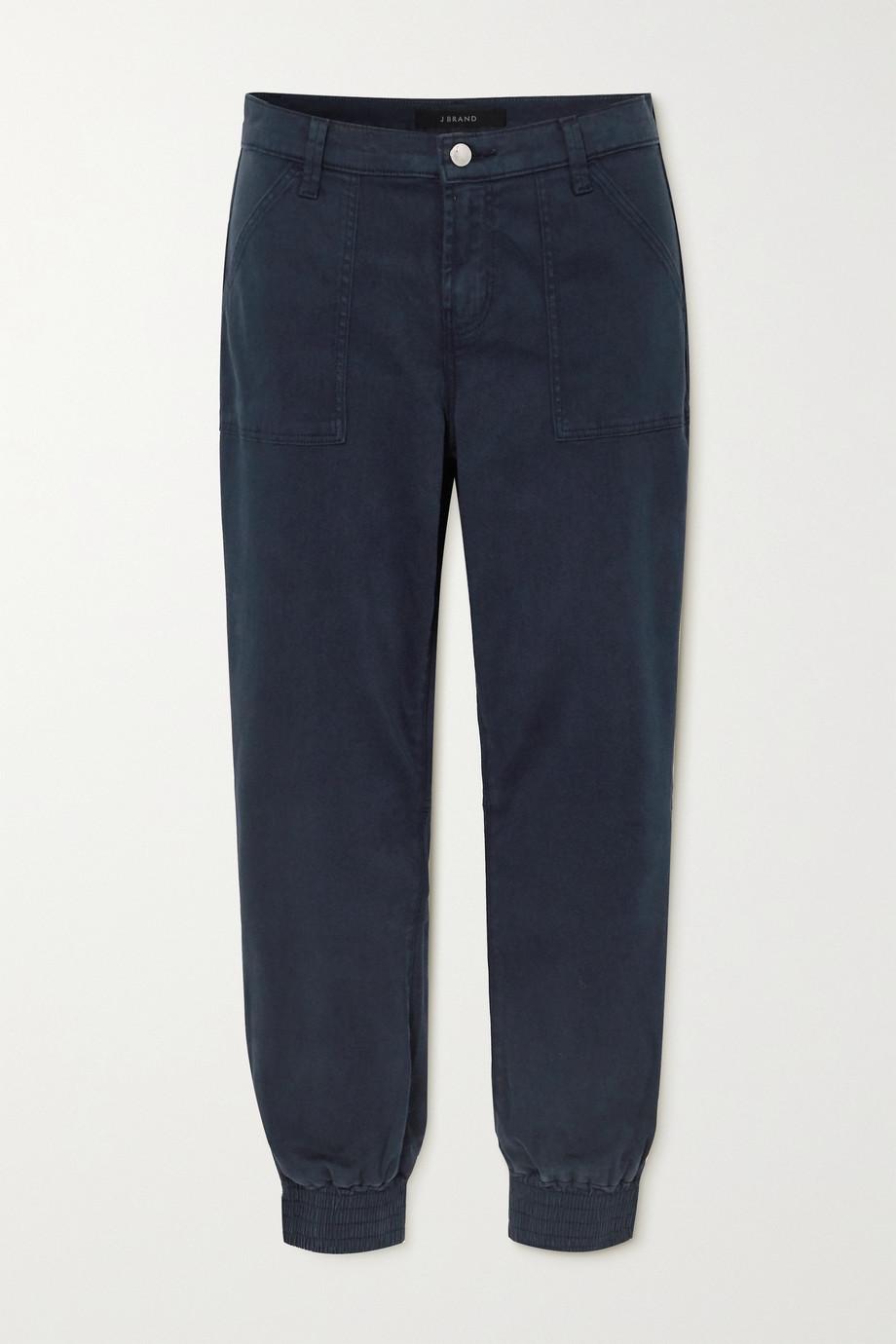 J Brand Arkin cropped cotton-blend sateen track pants