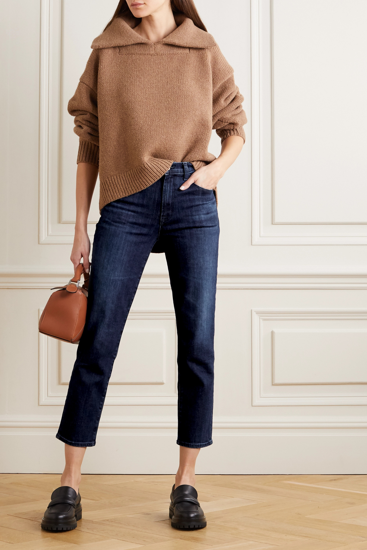 J Brand Alma cropped high-rise straight-leg jeans