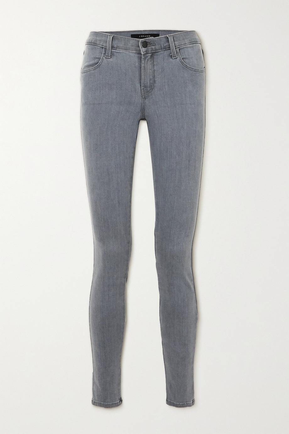 J Brand Sophia verkürzte, halbhohe Skinny Jeans