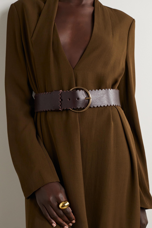 Black & Brown + NET SUSTAIN Sienna Taillengürtel aus Leder mit Wellenkanten