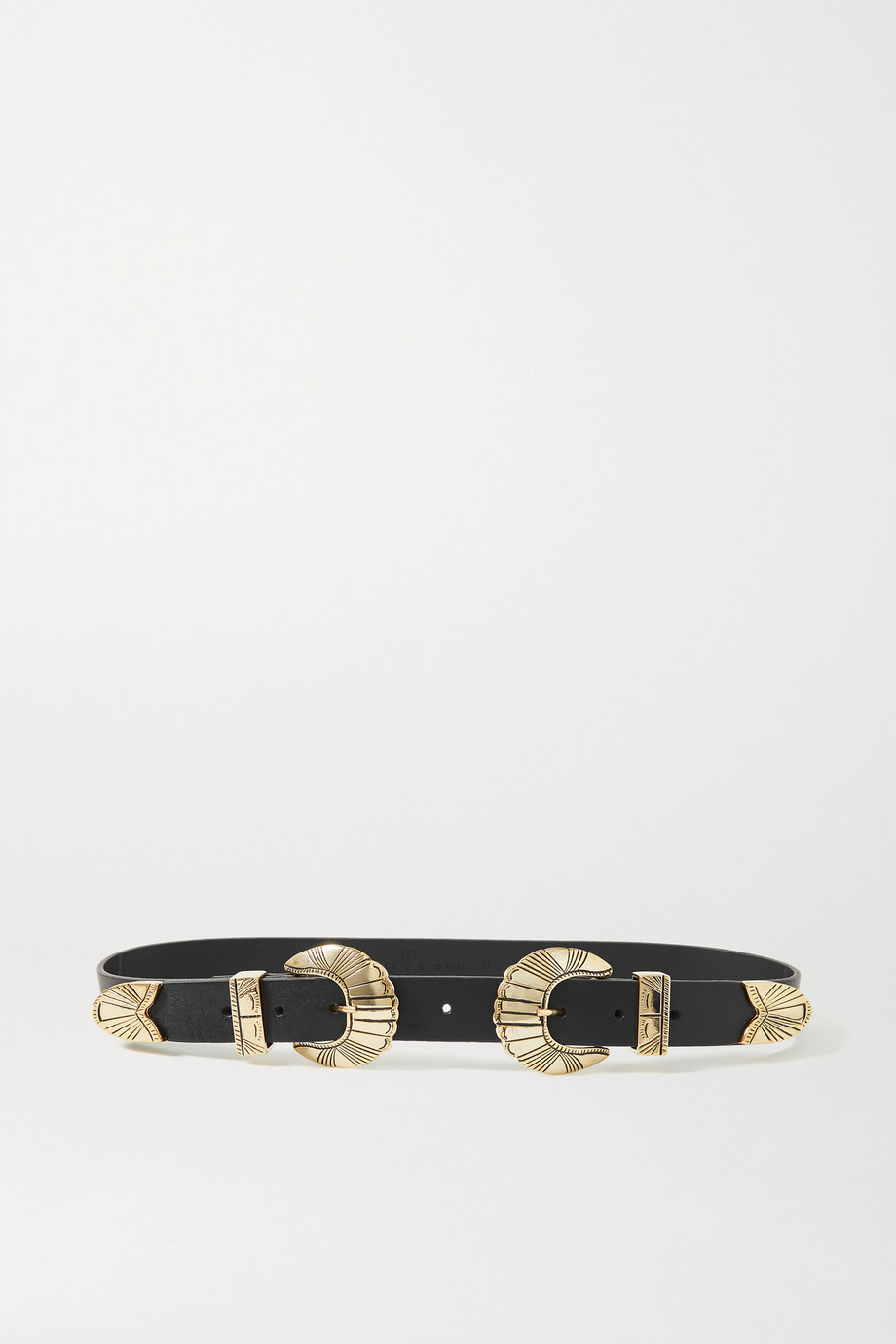 Black & Brown + NET SUSTAIN Olivia leather belt