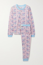 Morgan Lane + LoveShackFancy Kaia floral-print stretch-jersey pajama set