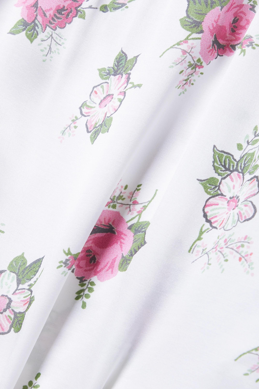 Morgan Lane + LoveShackFancy Noelle Martine lace-trimmed satin pajama set