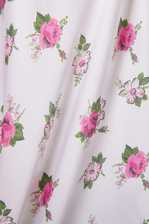 Morgan Lane + LoveShackFancy Stella floral-print silk-blend satin chemise
