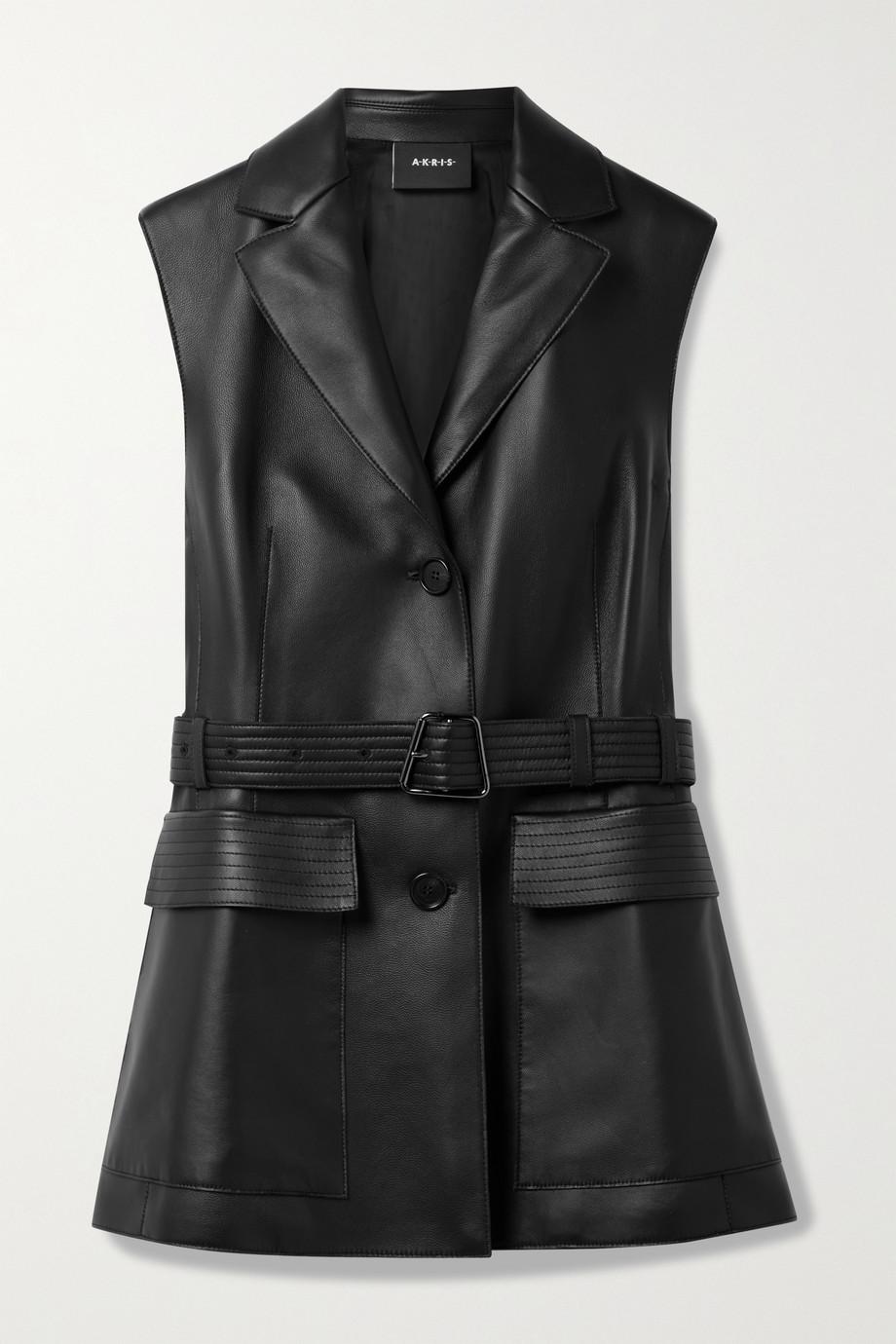 Akris Natalina belted leather vest