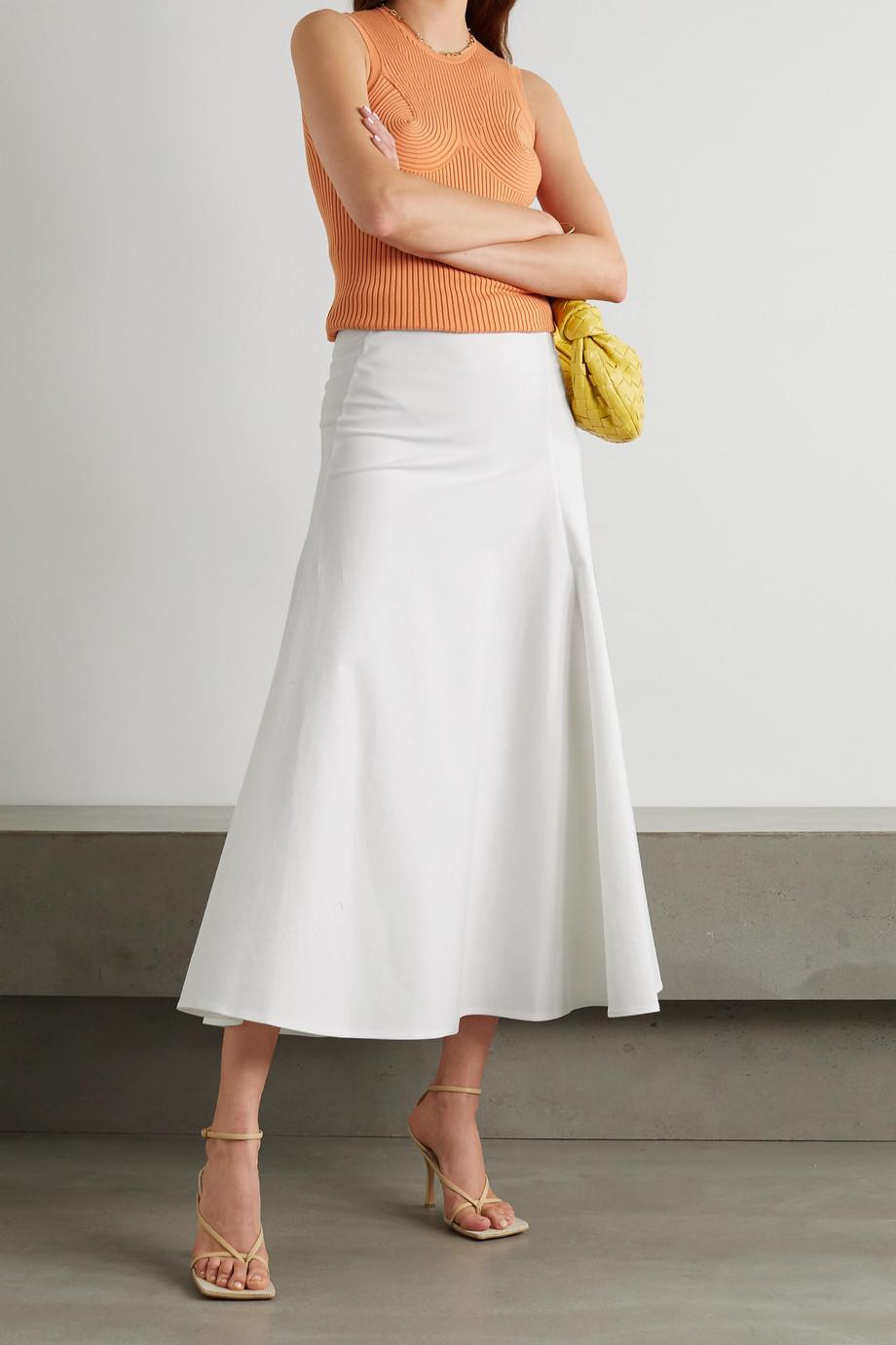 Akris Cotton-blend gabardine midi skirt