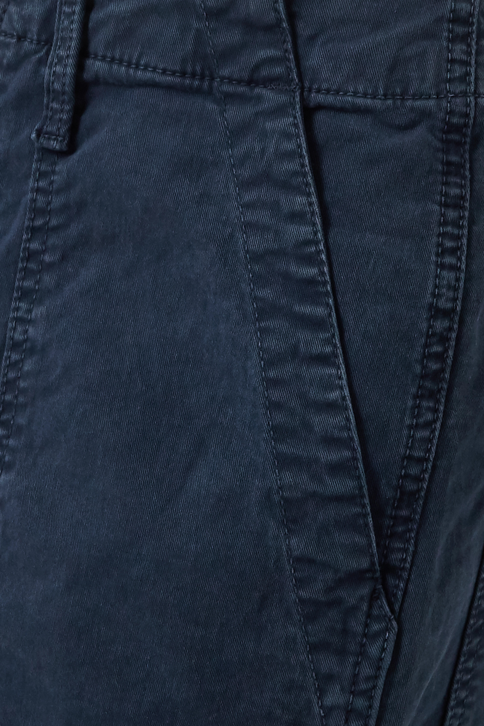 MOTHER Frayed cotton-blend straight-leg pants