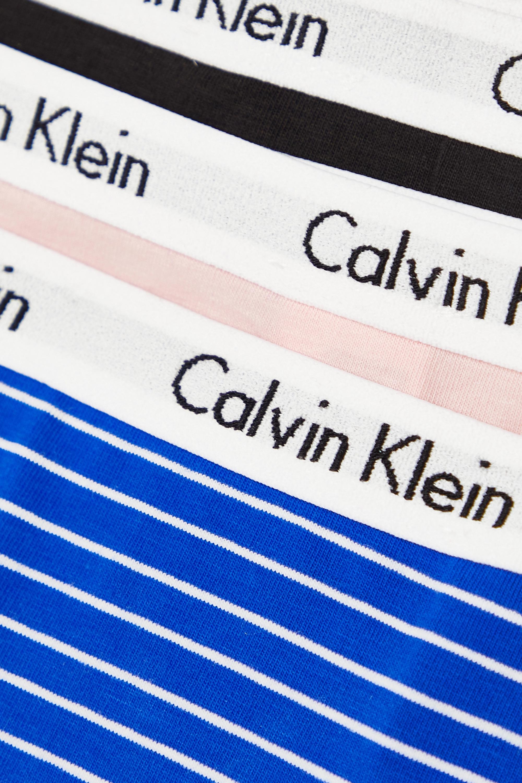 Calvin Klein Underwear Set of three Carousel stretch-cotton jersey thongs