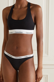 Calvin Klein Underwear Set of three Carousel stretch-cotton jersey thongs