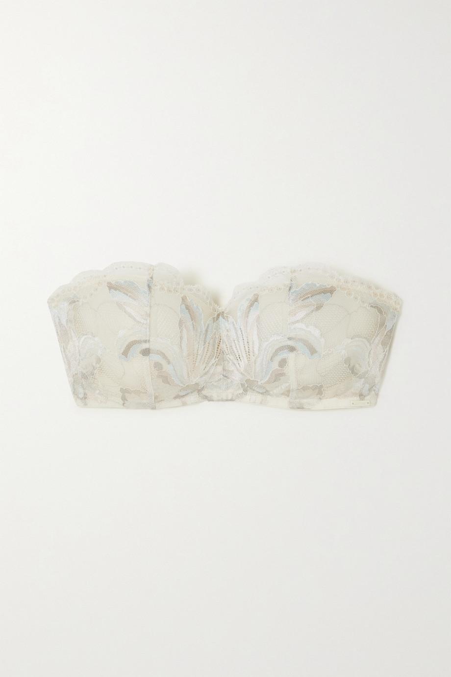 Calvin Klein Underwear Amarylis lace-trimmed tulle underwired bra