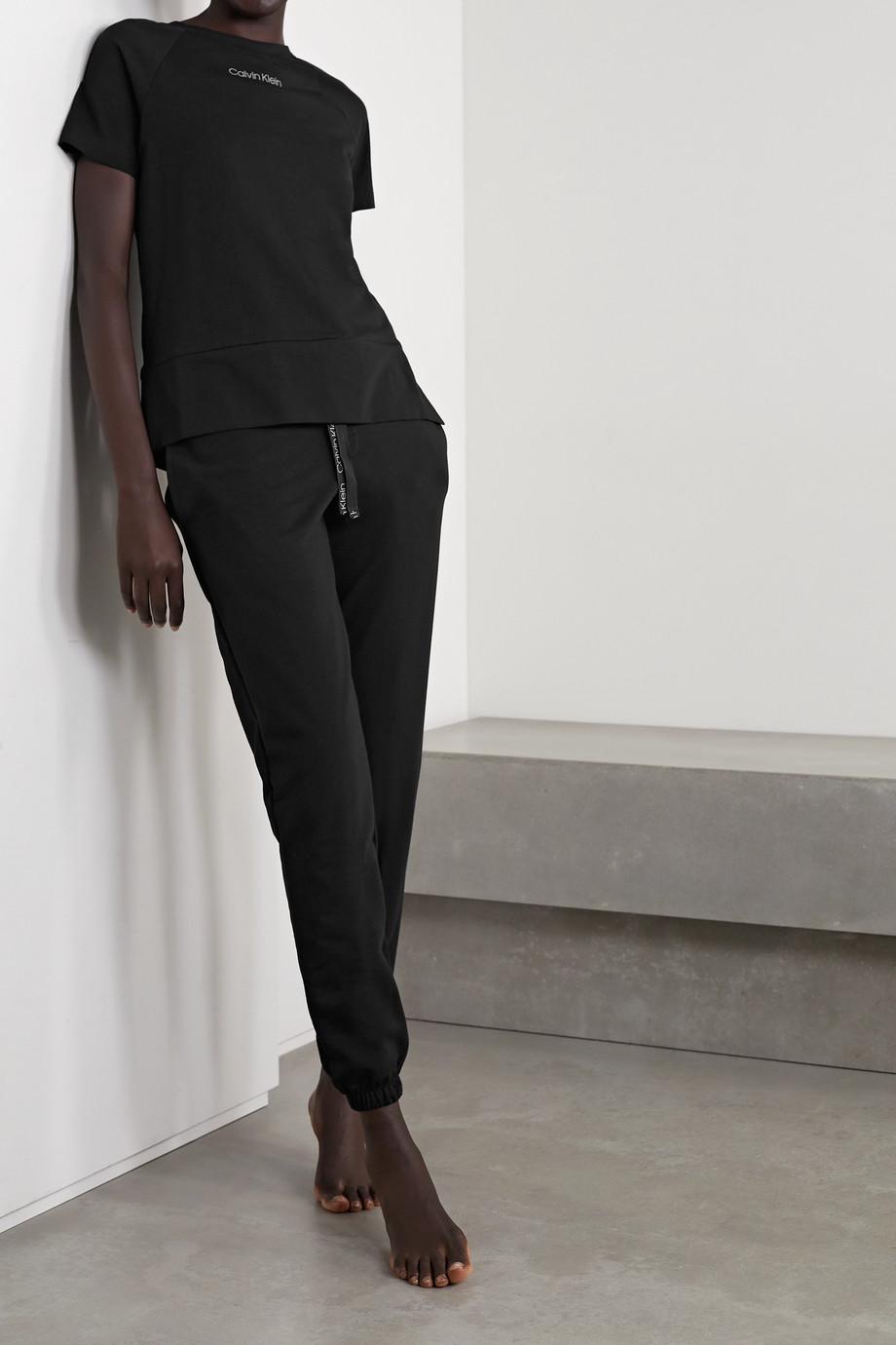 Calvin Klein Underwear Printed cotton-blend jersey T-shirt