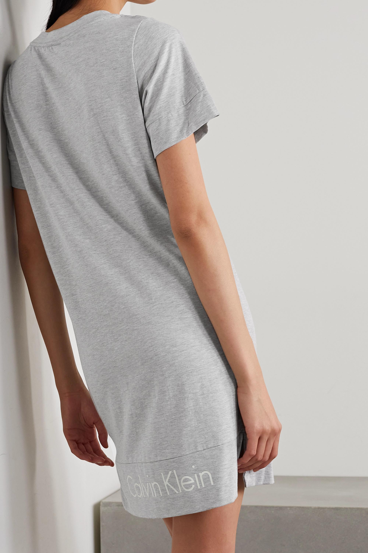 Calvin Klein Underwear Printed mélange cotton-blend jersey nightdress
