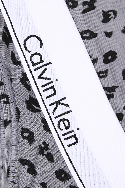 Calvin Klein Underwear Modern Cotton leopard-print stretch cotton and modal-blend bralette