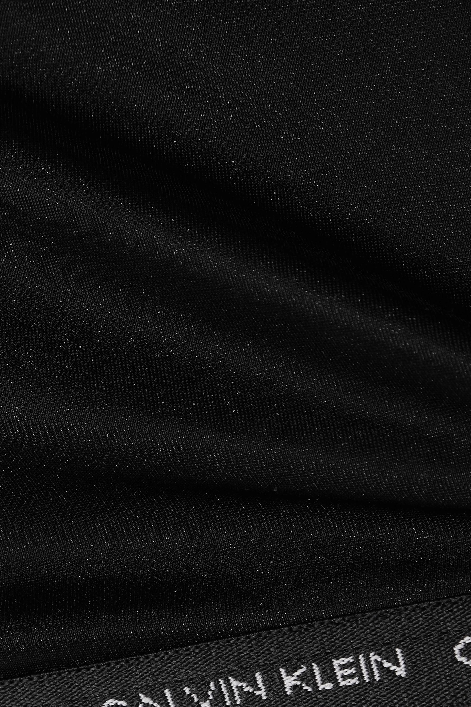 Calvin Klein Underwear CK One Glisten metallic stretch-jersey soft-cup bra