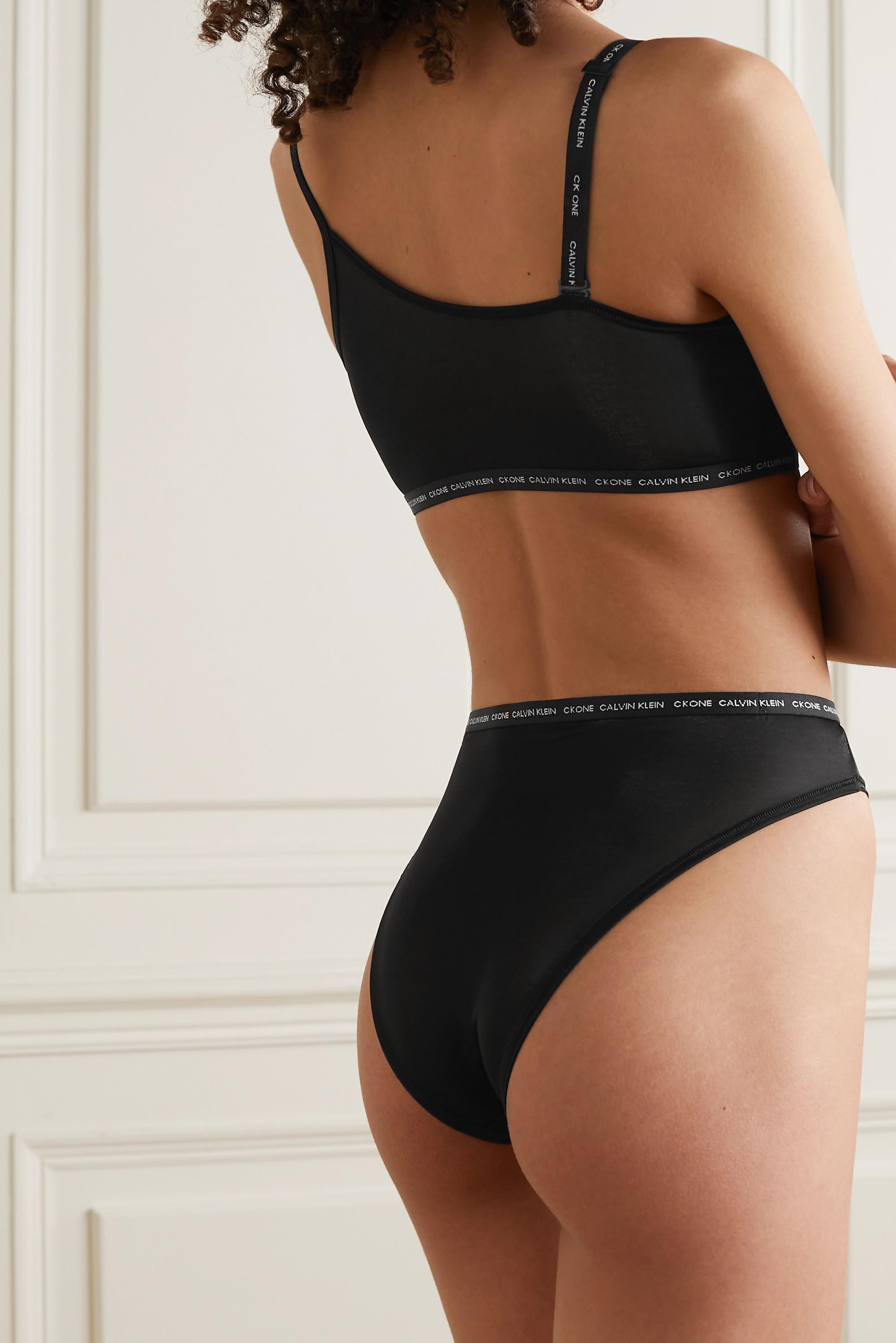 Calvin Klein Underwear CK One Glisten metallic stretch-jersey briefs