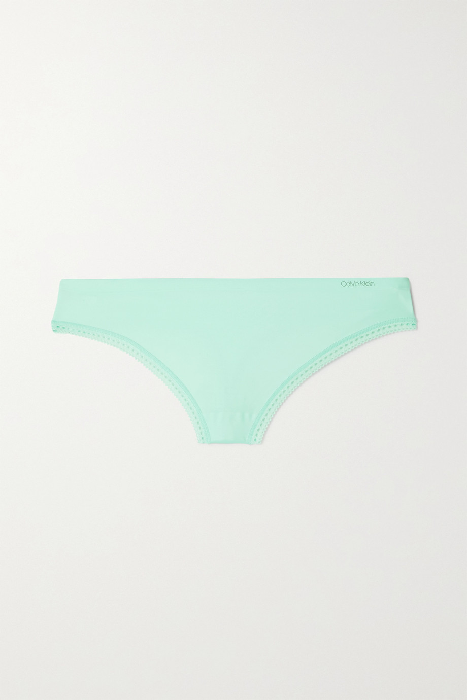 Calvin Klein Underwear Liquid Touch picot-trimmed stretch-jersey briefs