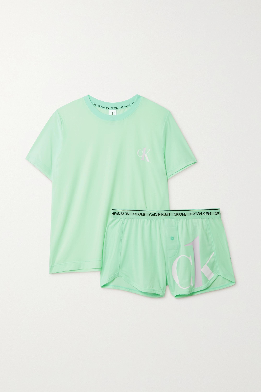 Calvin Klein Underwear Printed stretch-jersey pajama set