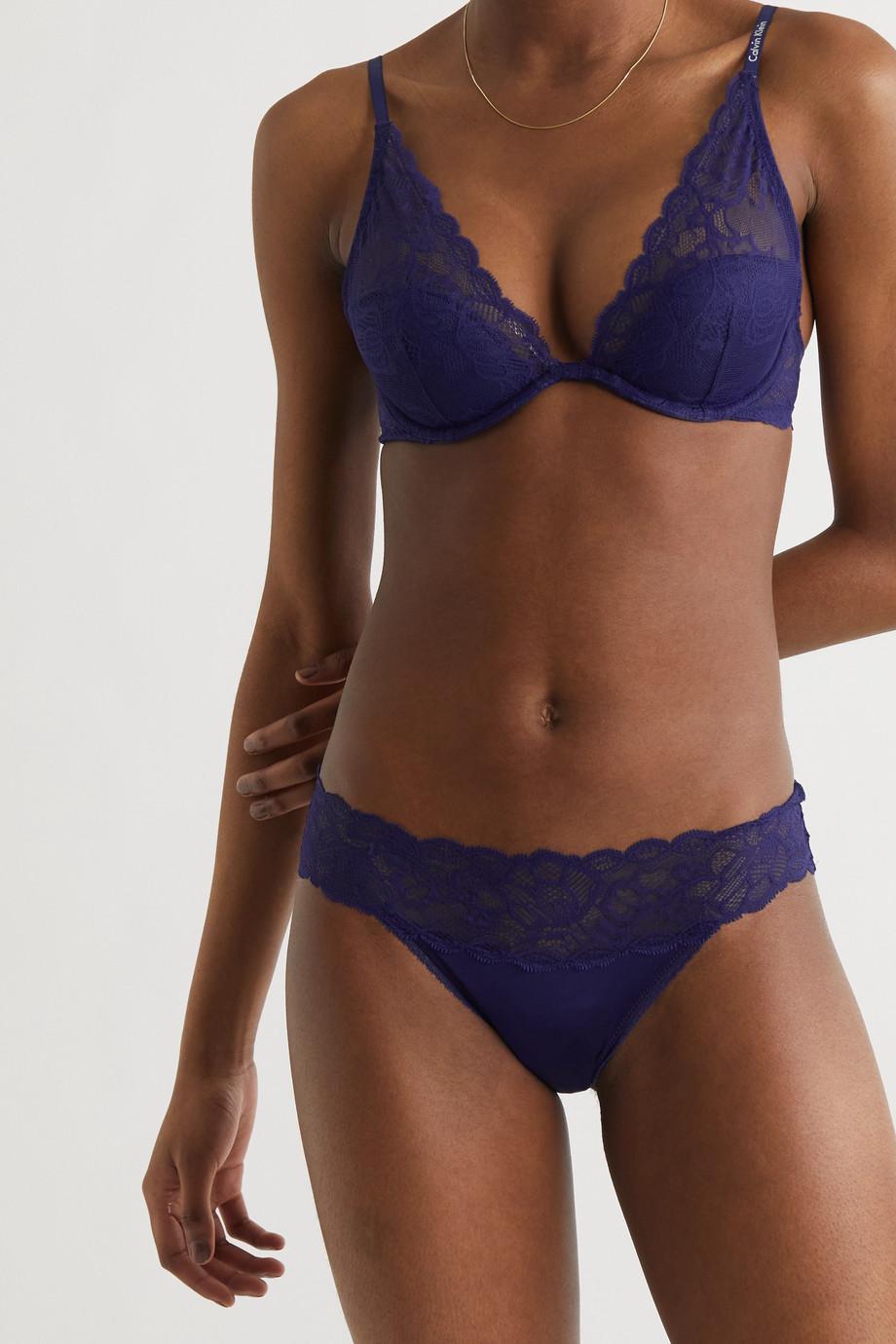 Calvin Klein Underwear Seductive Comfort stretch-lace and jersey briefs