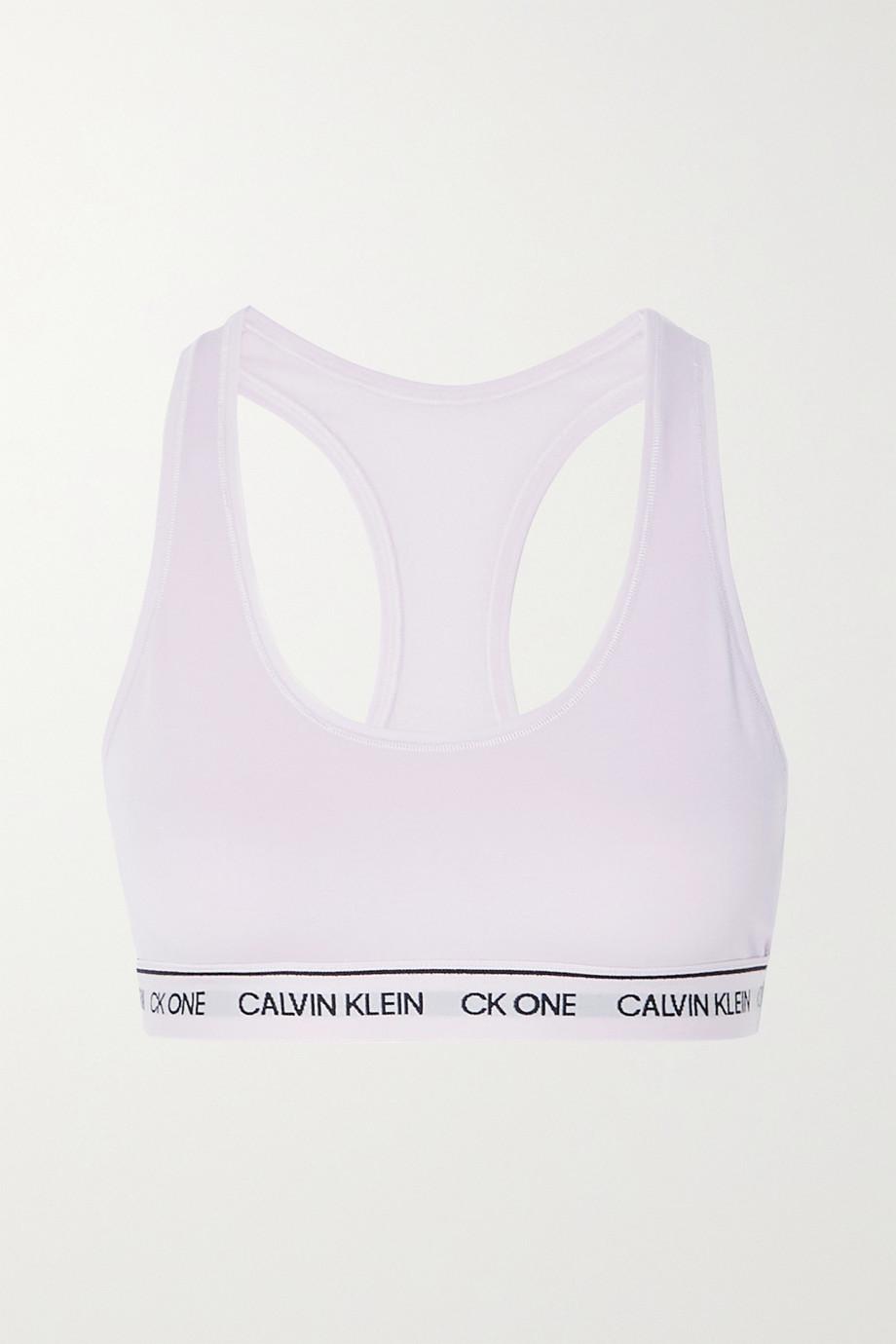 Calvin Klein Underwear CK One recycled stretch-jersey bralette
