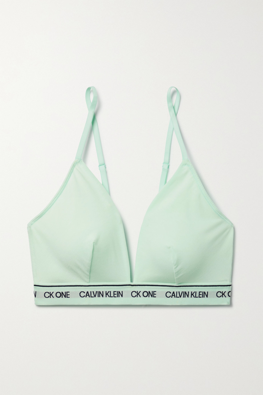 Calvin Klein Underwear + NET SUSTAIN CK One jacquard-trimmed recycled stretch-jersey soft-cup triangle bra