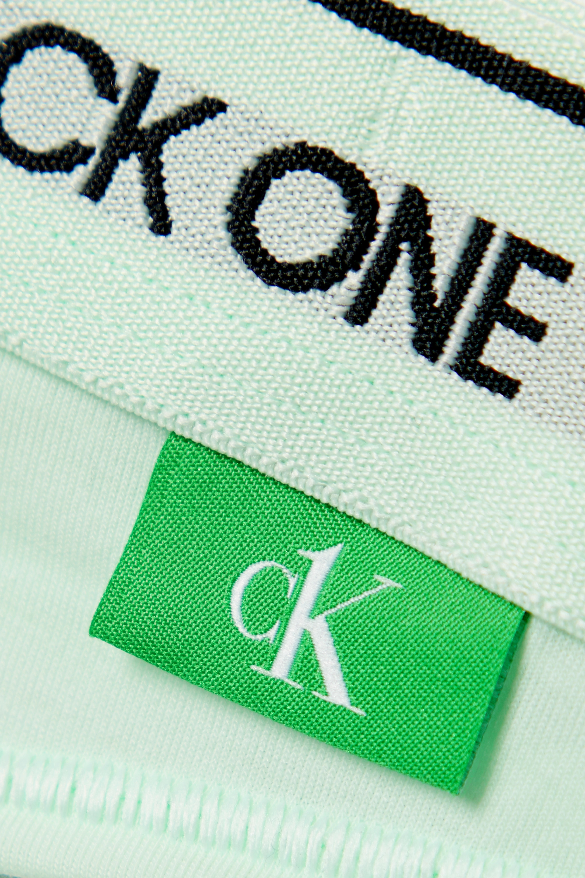Calvin Klein Underwear + NET SUSTAIN CK One jacquard-trimmed recycled stretch-jersey thong