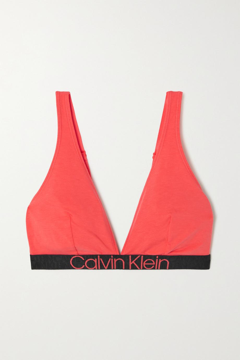 Calvin Klein Underwear Stretch cotton-blend jersey soft-cup triangle bra
