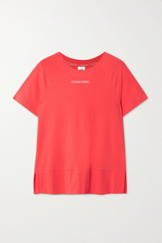 Calvin Klein Underwear Printed cotton-blend jersey pajama top