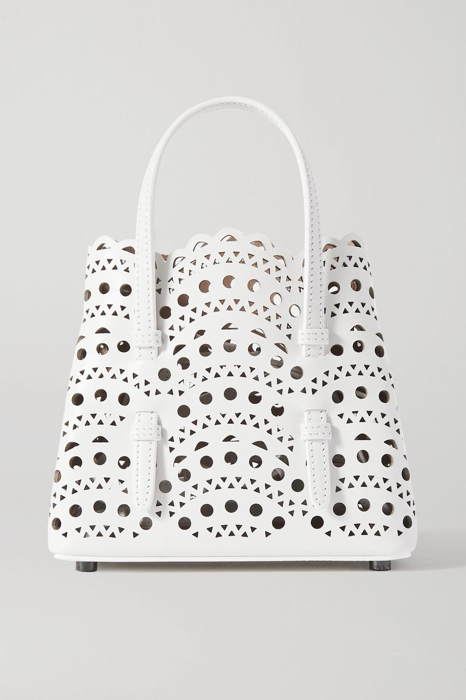 Alaïa Mina 激光雕花皮革迷你手提包