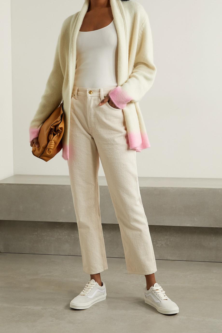 The Elder Statesman Two-tone cashmere cardigan