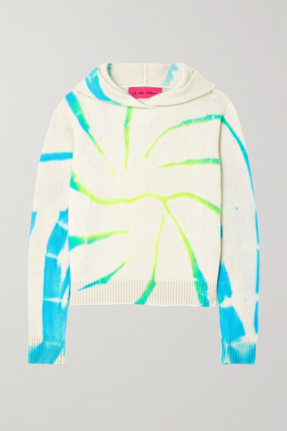 The Elder Statesman Cyclone tie-dyed cashmere hoodie