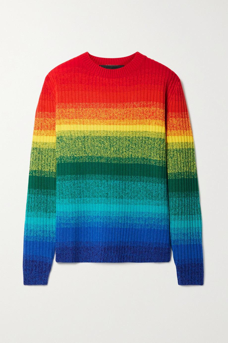 The Elder Statesman Morph ribbed striped cashmere sweater