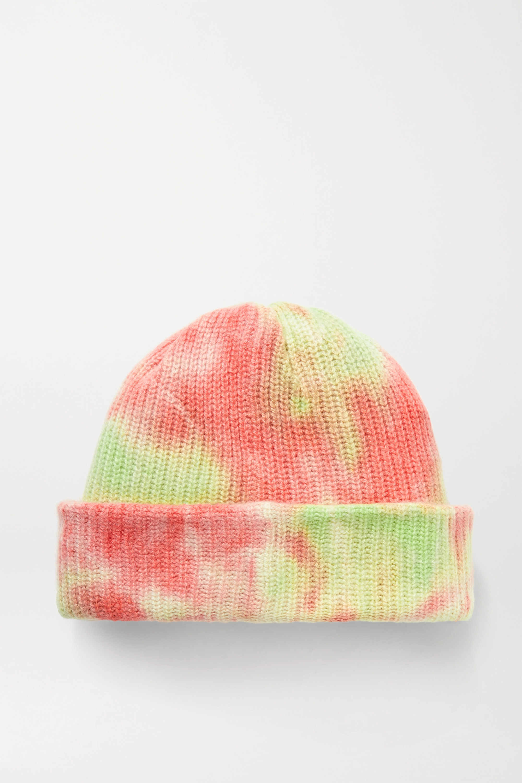 The Elder Statesman Watchman tie-dyed ribbed cashmere beanie