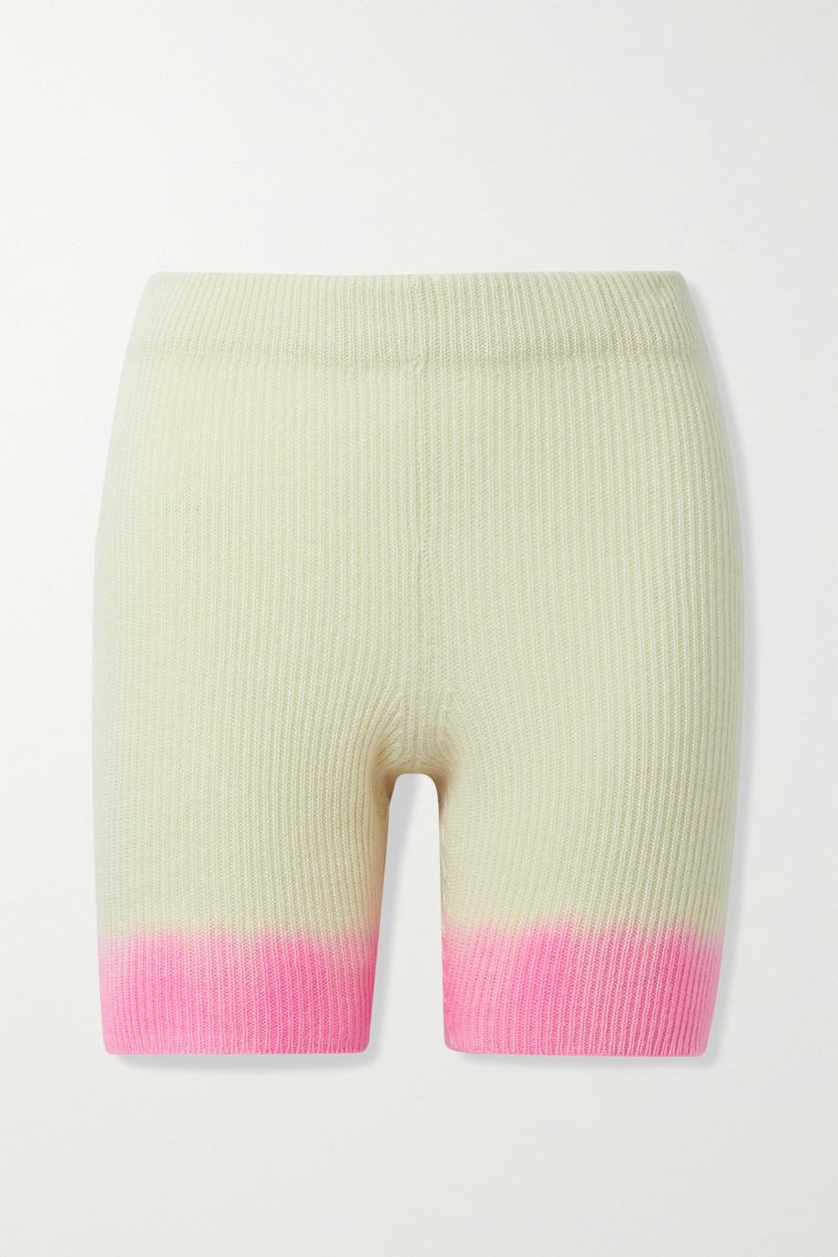 The Elder Statesman Shorts aus geripptem Kaschmir mit Farbverlauf