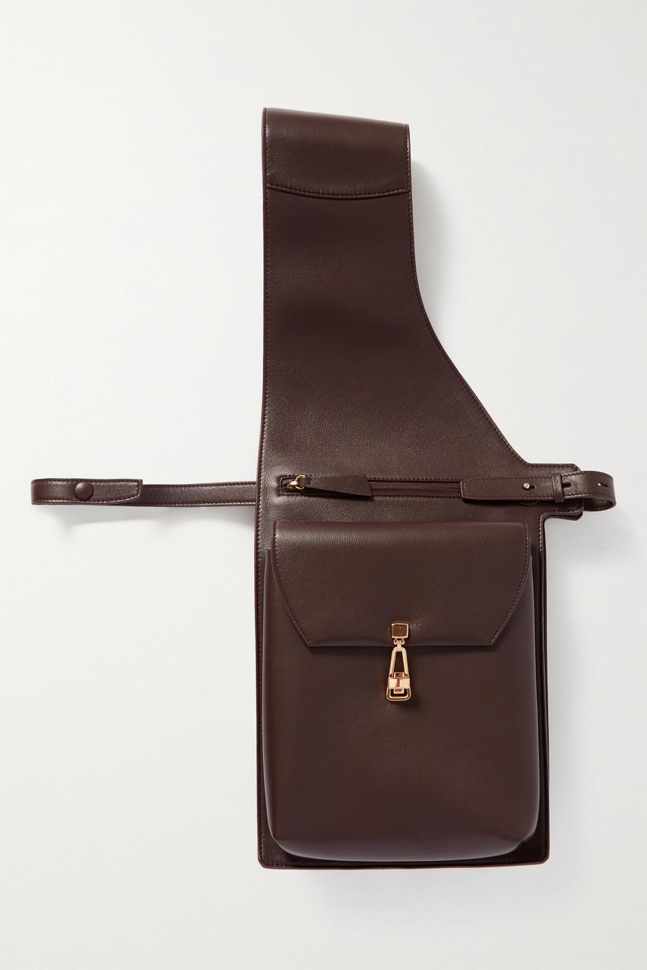 Gabriela Hearst + NET SUSTAIN Saddle Schultertasche aus Leder